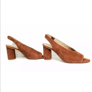 Madewell The Alana Slingback Suede Sandals Size 9